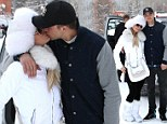 Every inch the snow bunny! Paris Hilton gets romantic in a winter wonderland with boyfriend River Viiperi