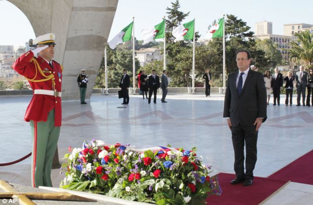 Mr Hollande admitted the 132 colonisation of Algeria had been 'unjust and brutal'