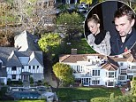 Aerial views of Kate Hudson and Matt Bellamy's homes in Pacific Palisades.
