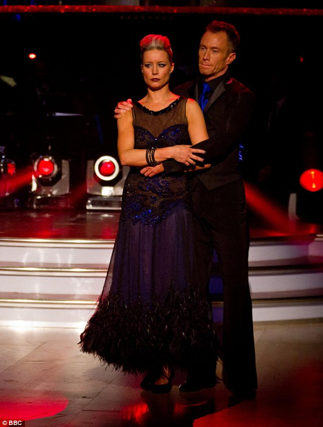 Add insult to injury: Not only has Denise Van Outen suffered a second injury but she also the least favourite to win Strictly Come Dancing