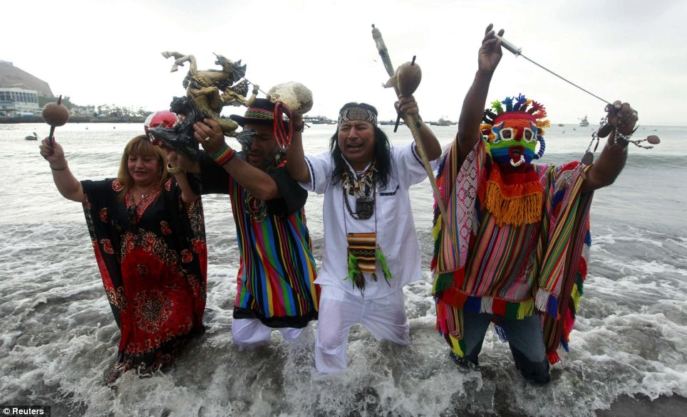 Ward off: Shamans performed several rituals to calm believers and ward off the end of the world predictions