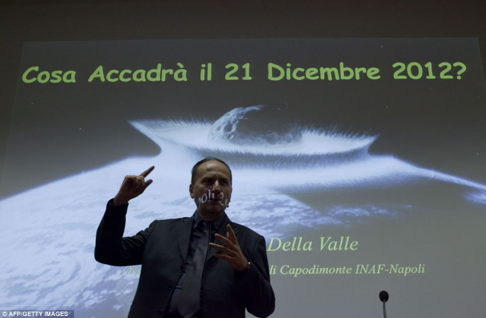Big talk: Massimo della Valle, the director of the astronomical observatory of Capodimonte delivers a speech on the end of the world