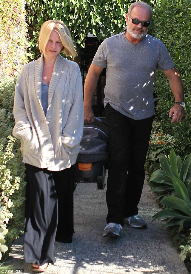 Nice day out: The trio were out in West Hollywood for a hair appointment