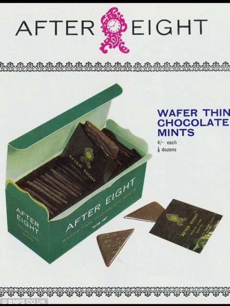 This early advert sells the wafer thin mints that have become a favourite on the Christmas table in old money