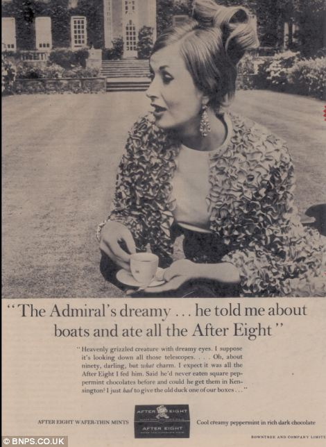 This mid 1970s advert shows a woman outside a country mansion gossiping about the 'dreamy' Admiral