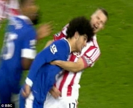 Heads up: Fellaini has been charged by the FA over his clash with Shawcross