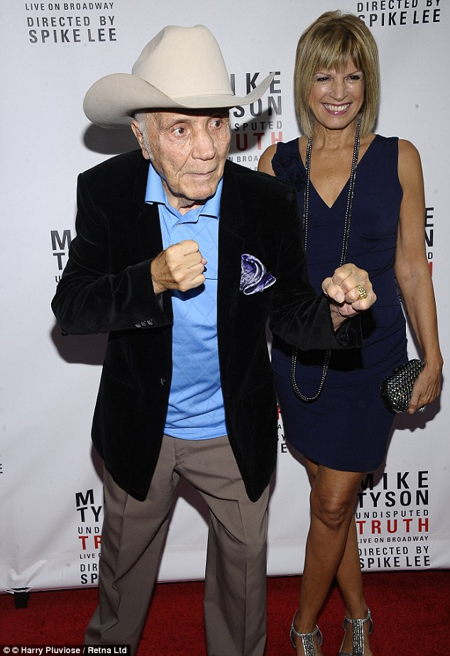 Hitched: Jake LaMotta, 90, married long-term fiancee Denise Baker after being engaged for 12 years