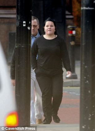 Kirsty Smedley leaving Manchester Crown Square Crown Court where she was found guilty of allowing or causing the death of a child
