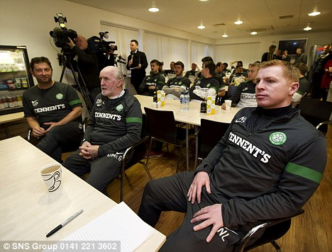 I the big time: Lennon watches this week's Champions League draw