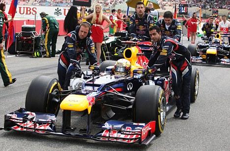 Winner: Sebastian Vettel of Red Bull Racing on the grid at this year¿s German Grand Prix