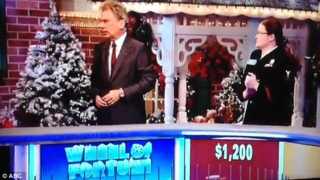 Firestorm: The segment, which was originally taped in September, caused a furor online, with many commenters attacking Sajak, left, for robbing Durette, right, of her victory