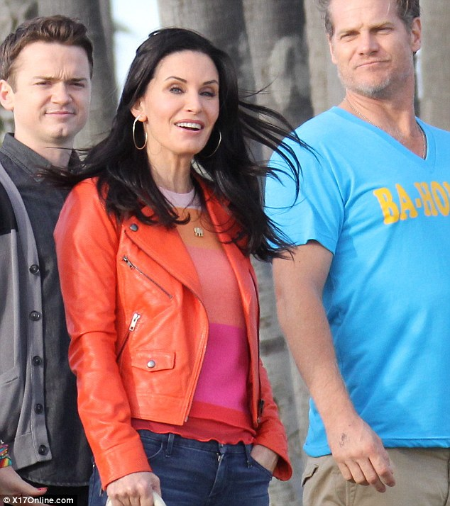 In action: Dan Byrd and and Brian Von Holt were also seen shooting scenes for the show