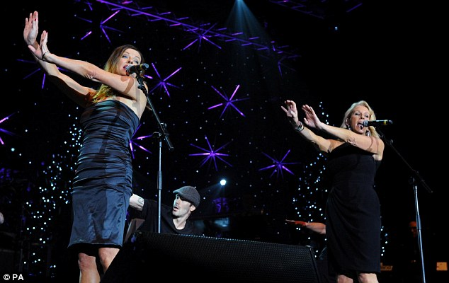 Still got the moves: Bananarama show they still have it as they perform to their famous hits