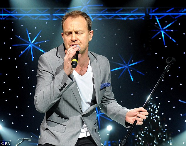 Superstar: Jason also performed a medley of his own songs before he headlined with Kylie