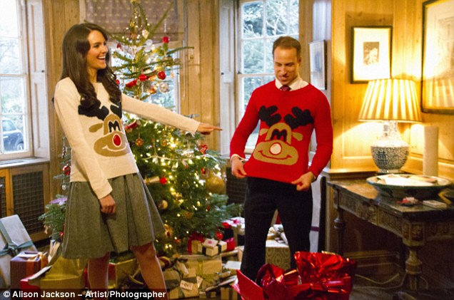 Is that a reign-deer? Kate and Wills wear their festive jumpers