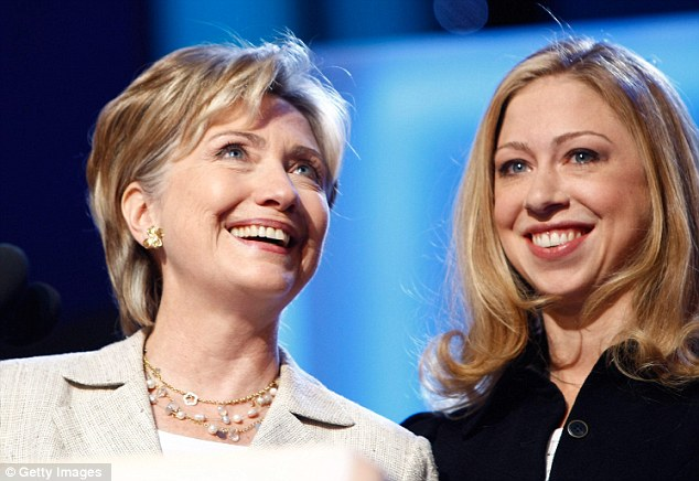 Family ties: Chelsea Clinton looks set to become the new public face of her family's political dynasty as her mother Hillary steps down from the helm at the State Department