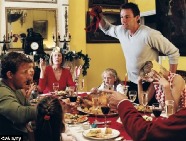 Festive feuds: Families have a total of five arguments on Christmas Day