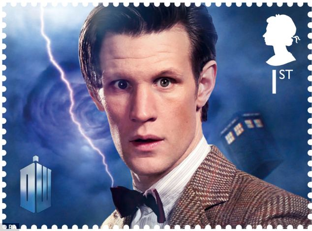 Christmas special: The Doctor Who stamp, showing the eleventh Doctor Matt Smith