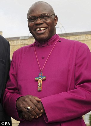 Positive message: The Archbishop of York has celebrated Christmas Day by calling on the nation to 'feed those who hunger' and 'give shelter to the homeless'