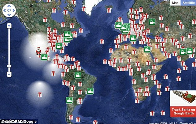 Google used their own map system this year independently of NORAD to track Santa
