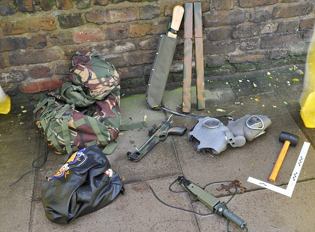 Hoard: The terrifying collection of weapons discovered in the rucksack of the a man who repeatedly slashed a woman in the random attack