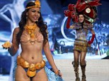 From chocolate dresses to banana bras and oyster bikinis: The most bizarre 'national' costumes from Miss Universe pageant