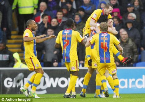Mile Jedinak (hidden) scored for Palace after just four minutes but Cardiff fought back