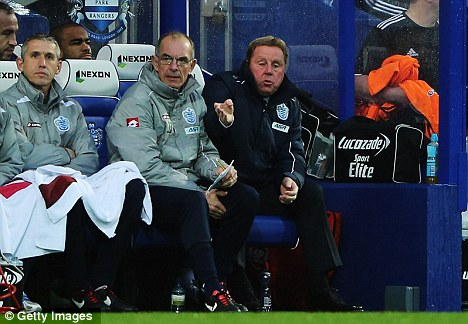 Fury: Redknapp (right) was not happy with the officials' performance