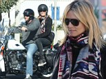 Speed demons! Heidi Klum and boyfriend Martin Kristen enjoy a race-y date on his motorbike