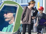 Han Solo flies again! Harrison Ford takes wife Calista Flockhart and family for holiday break on his personal jet