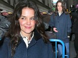 Back to work! Katie Holmes returns to Broadway after a quiet Christmas without daughter Suri