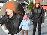 She's a smooth operator! Marcia Cross shows off as she takes her daughters ice-skating
