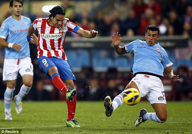 Staying put: Falcao wants to remain in Madrid until the summer