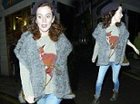 On the hunt for a new stylist: Anna Friel demonstrates her kooky fashion in a fur gilet and foxy jumper