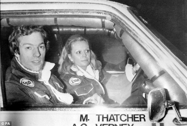 Prime Minster Margaret Thatcher's 28-year-old son Mark, and his co-driver Anne-Charlotte Verney during the 1982 during the Paris to Dakar car rally