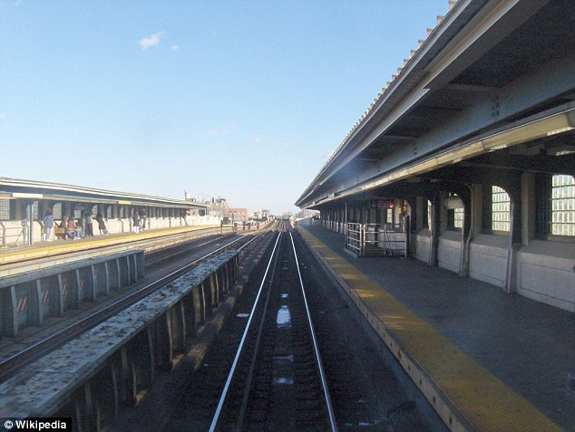 Crime scene: The shocking incident occurred at a station in Queens, pictured, and is the second horrific case this month