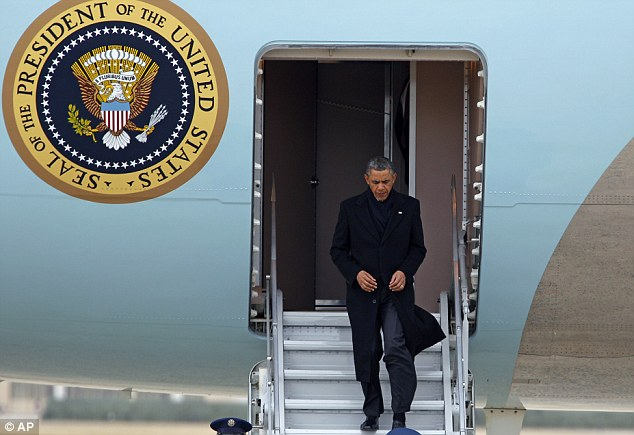 Last ditch: President Obama returns to Washington for negotiations to avoid the 'fiscal cliff'