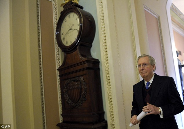 Stand-off: Top Republican Mitch McConnell heads to budget showdown with Democratic President Barack Obama