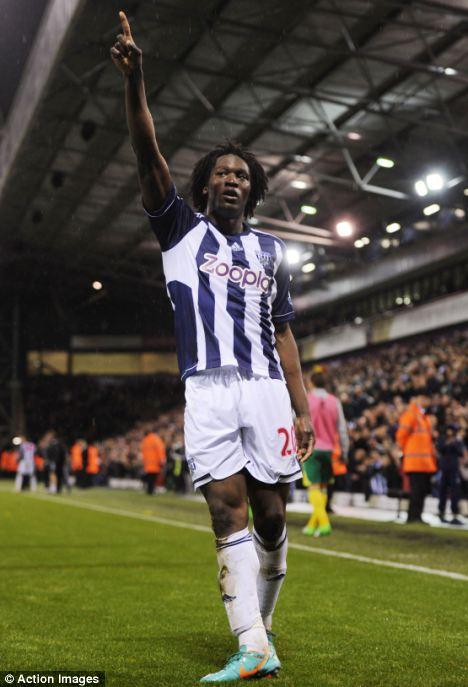 Discussions: Chelsea have thought about bringing back Romelu Lukaku from West Brom but believe it would be more beneficial to leave him at The Hawthorns