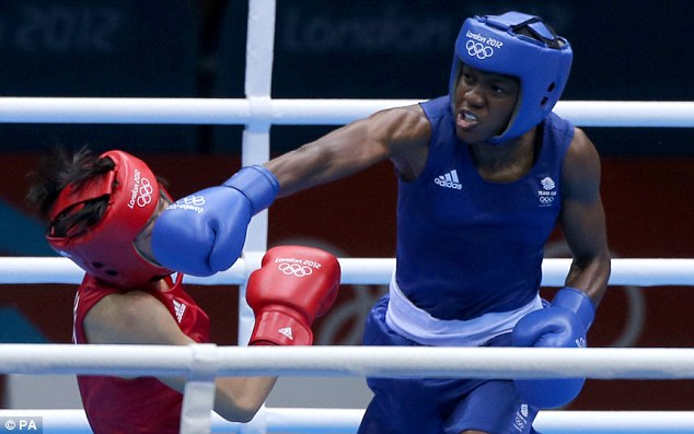 Pioneer: Nicola Adams (right) was the first woman to win a boxing gold medal