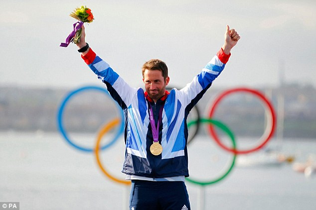 Unstoppable: Ben Ainslie won his fourth successive gold medal at the London Olympics
