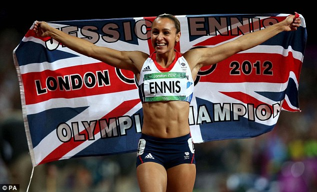 Poster girls: Jessica Ennis (above) delivered gold in the heptathlon while Victoria Pendleton also triumphed