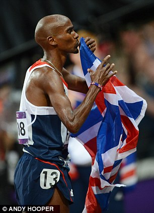 Admirable: Mo Farah was born in Somalia but draped himself in the Union Jack without apology or ambiguity
