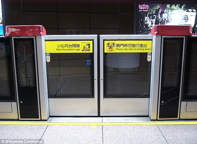 Mind the gap: In Taipei, sliding doors ensure that no passengers fall onto the tracks
