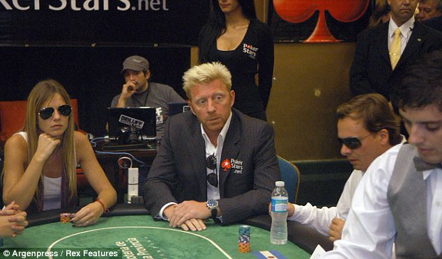 High roller: Boris Becker at a poker tournament in Argentina