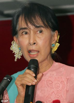 Myanmar opposition leader Aung San Suu Kyi is said to be pleased at the outcome of her handiwork