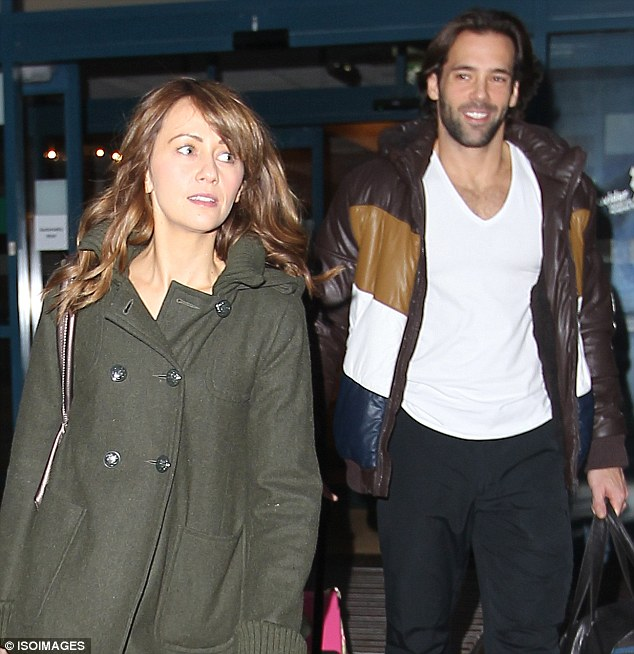Working relationship: The pair hung out with their Dancing On Ice colleagues at a London hotel earlier this month