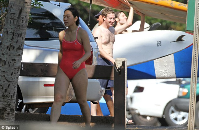 Low-key couple: Despite their extreme wealth, the Zuckerbergs live quietly in California and enjoy simple holidays together