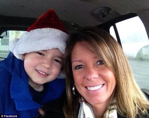 Hiding: Brayden Johnson, 6, was told to hide in a back bedroom when the shooting began. His mother Susan Johnson was wounded