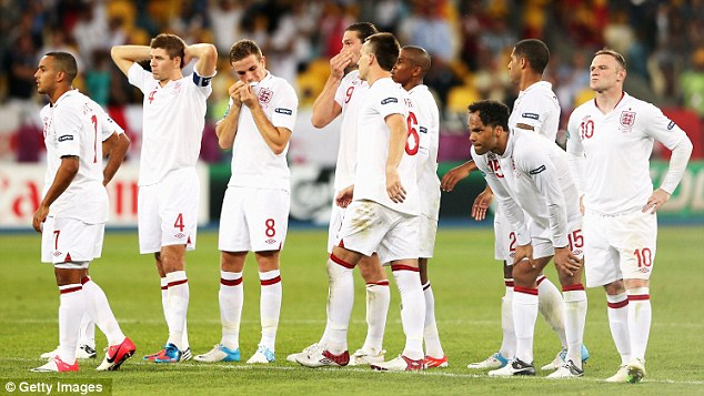 Over and out: England were knocked out of Euro 2012 by Italy in the quarter finals